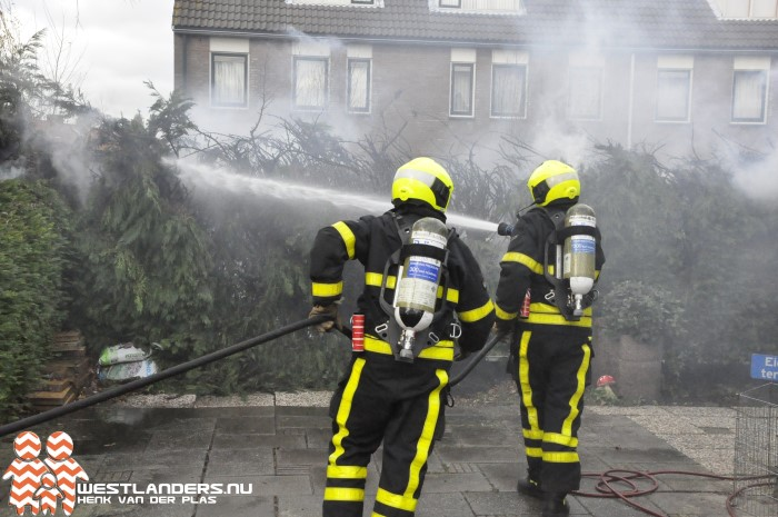 Coniferenbrand aan de De Backerstraat
