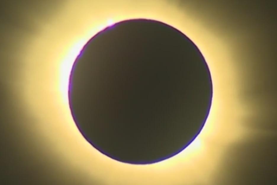 Weinig te zien van de zonsverduistering
