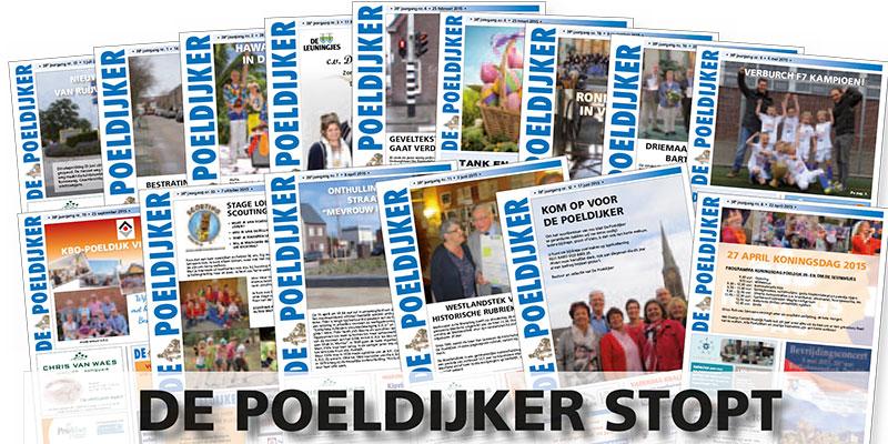 Poeldijks dorpsblad De Poeldijker stopt