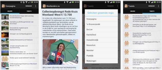 Android app Westlanders.nu gratis verkrijgbaar