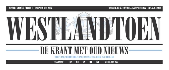 Nieuwe tweewekelijkse krant in regio Westland