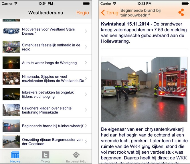 Westlanders.nu iPhone / iPad app gratis !