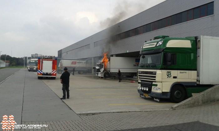 Vrachtwagenbrand op het ABC Westland terrein