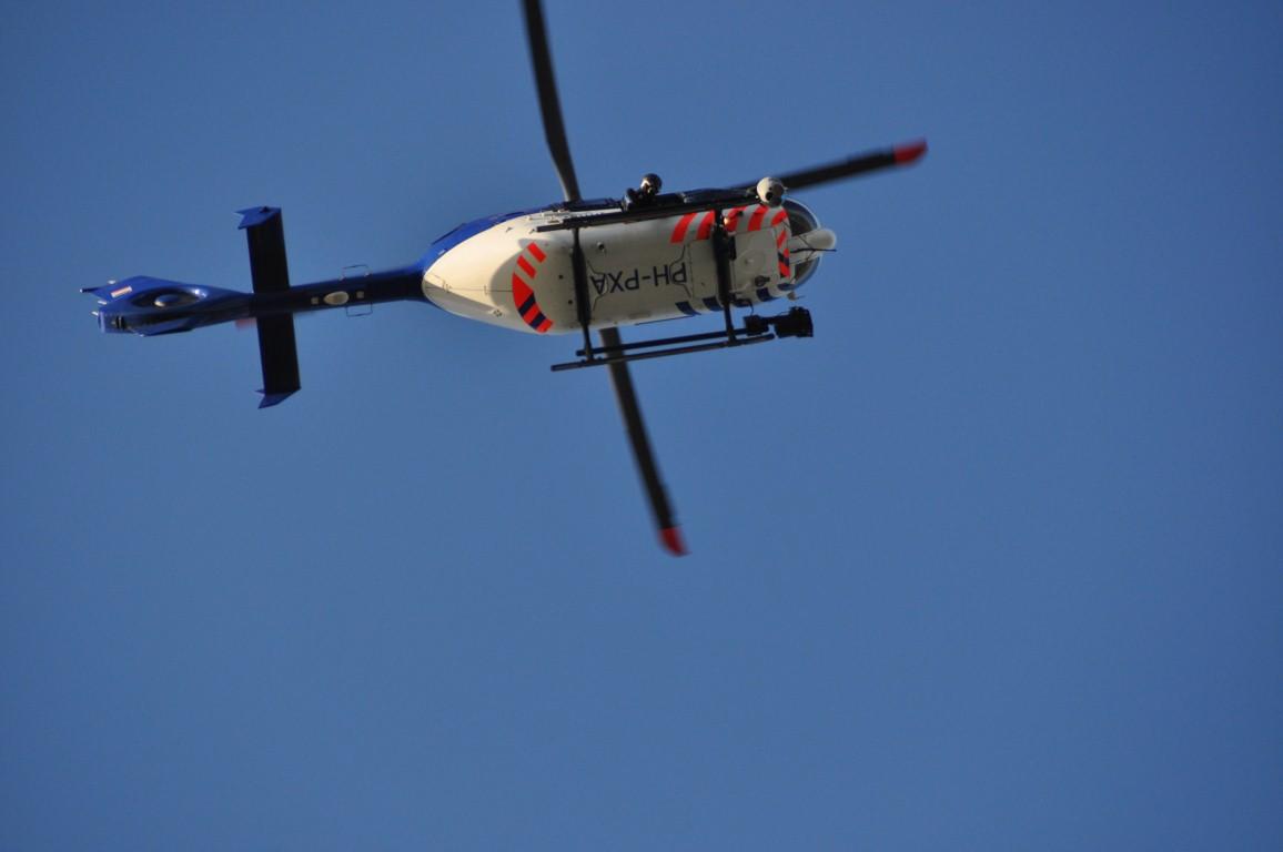 Politiehelikopter op jacht naar inbrekers