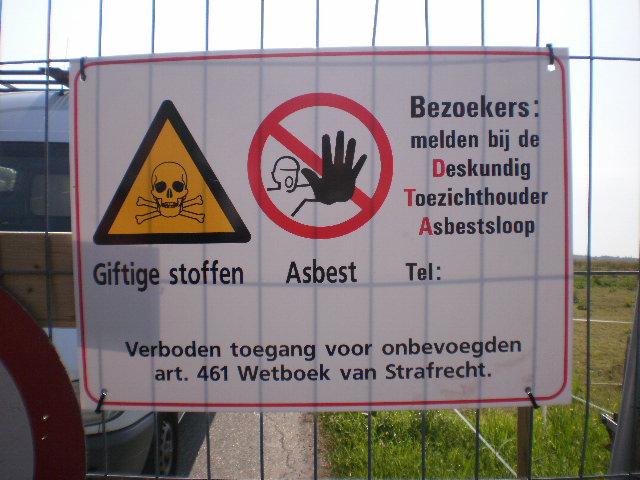 Dubbel beleid gemeente in asbestkwesties