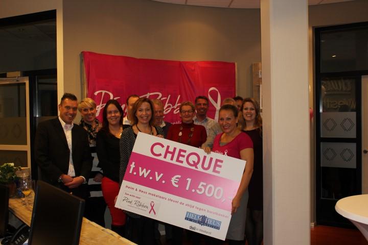 Pink Ribbon actie Helm & Heus goed voor € 1500