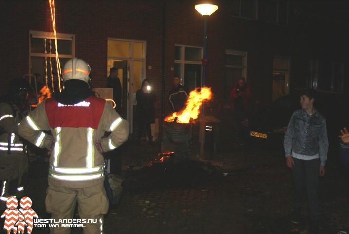 Brandmeldingen op oudejaarsavond in Maassluis