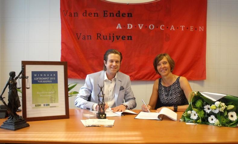 Nieuw sponsorcontract voor Rechtswinkel Westland