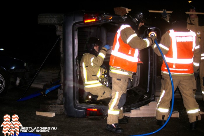 Brandweer Maassluis oefent verkeersongeval