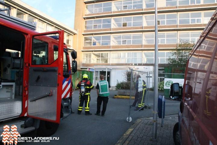 Brandweeroefening in voormalig ziekenhuisgebouw