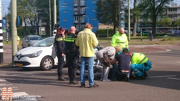 Motorrijder gewond bij eenzijdig ongeluk