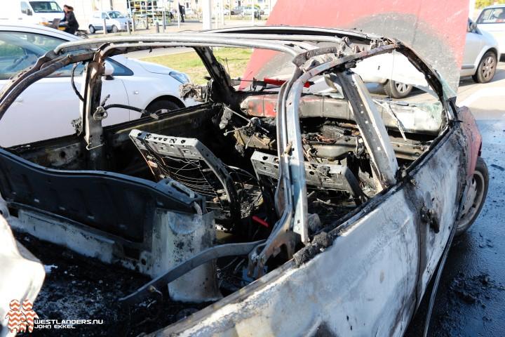 Ontploffing in auto door lekkende gasfles
