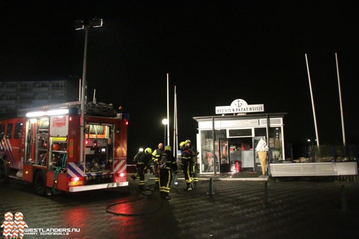 Kleine brand bij boulevard Kijkduin