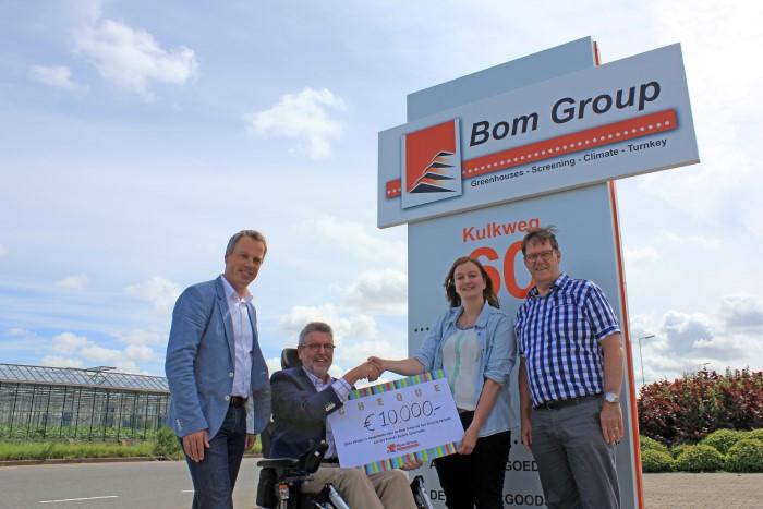 Relaties Bom Group doneren € 10.000aan Prinses Beatrix Spierfonds