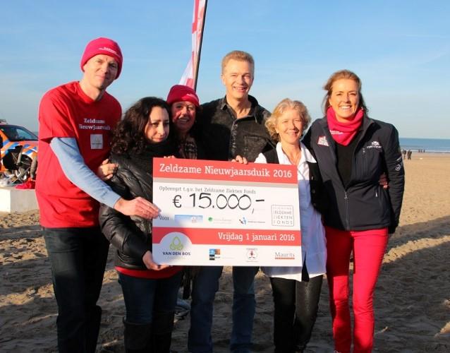 Record aantal deelnemers en opbrengst Zeldzame Nieuwjaarsduik Hoek van Holland