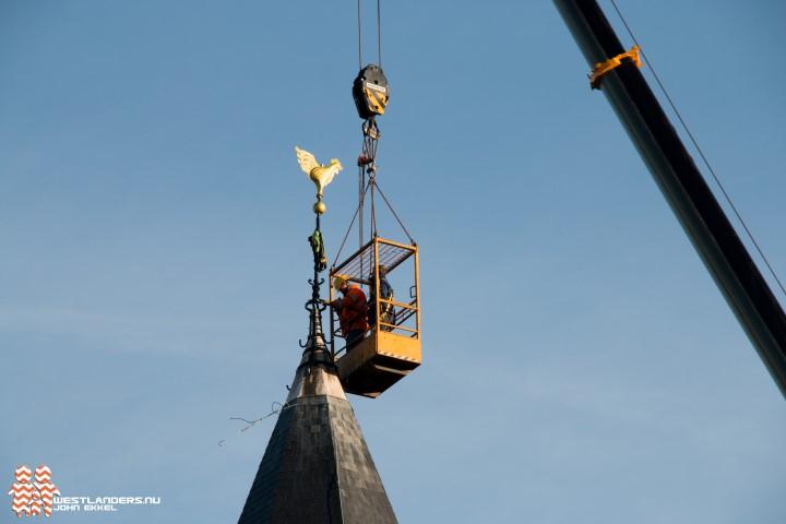 Restauratie toren Katholieke kerk Honselersdijk voltooid