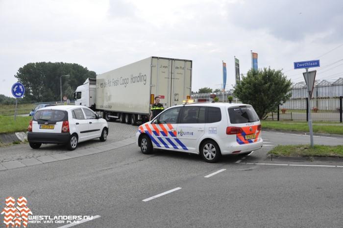 Vrachtwagen valt stil op de Veilingroute