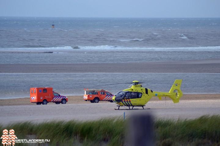 Traumahelikopter op de Zandmotor