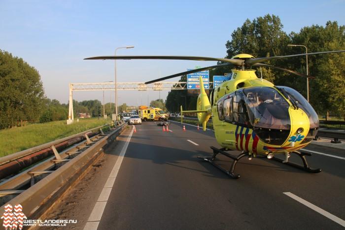 Motorrijder zwaar gewond bij ongeluk op de A20
