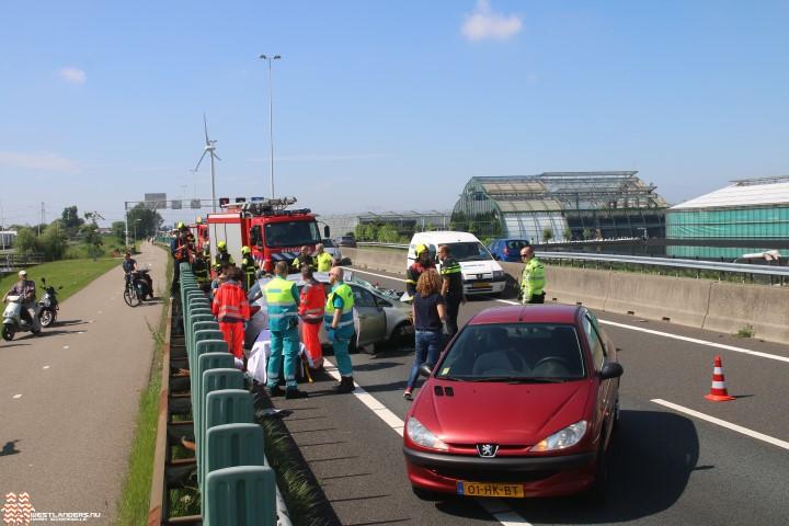 Inzet traumateam bij eenzijdig ongeluk op de A20