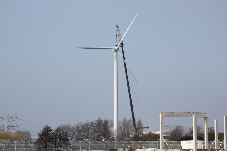 Collegevragen over definitieve plaatsing windturbine bij Maassluis