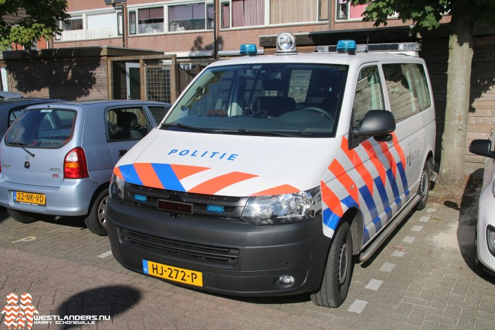 Agressieve winkeldief in politiecel