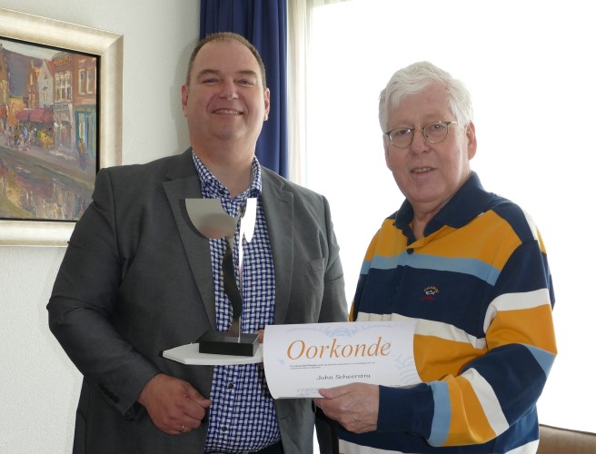 Culturele Prijs Maassluis voor John Scheerstra