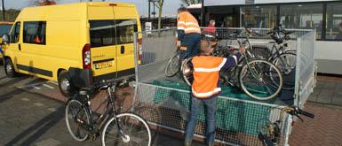 Fietswrakkenactie op stations Maassluis