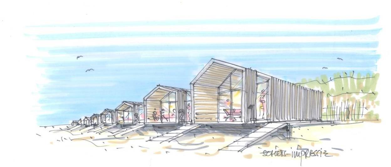 Nog geen vergunningaanvraag voor 100 strandhuisjes
