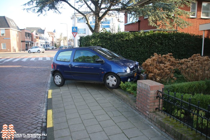Automobiliste ramt tuinafscheiding na ongeluk