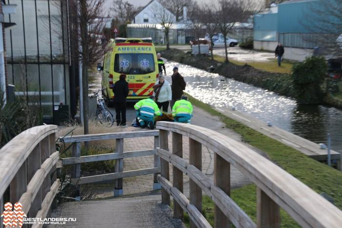 Bejaarde gewond na val van fiets