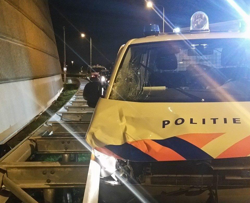 Spookrijdende inbrekers met scooter op de A4
