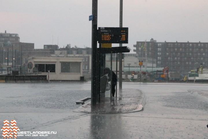 Wateroverlast door onweersbui