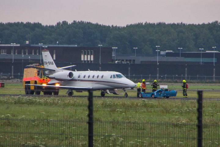 Noodlanding op Rotterdam The Hague Airport