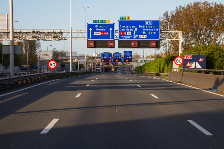 Twee keer groot onderhoud op A20 Rotterdam-Gouda