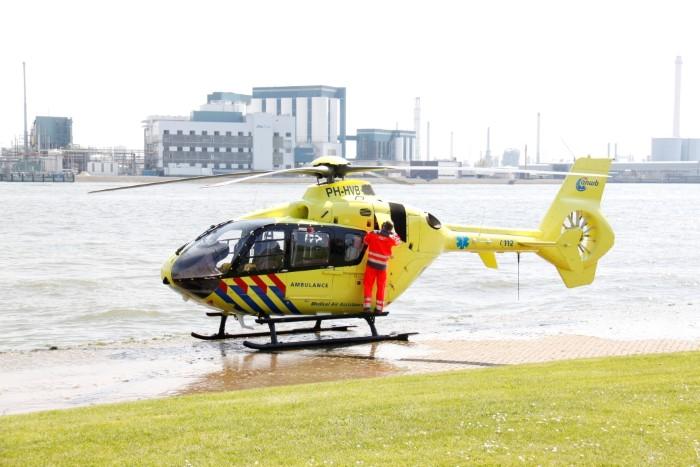 Inzet traumahelikopter voor kind na val van hoogte