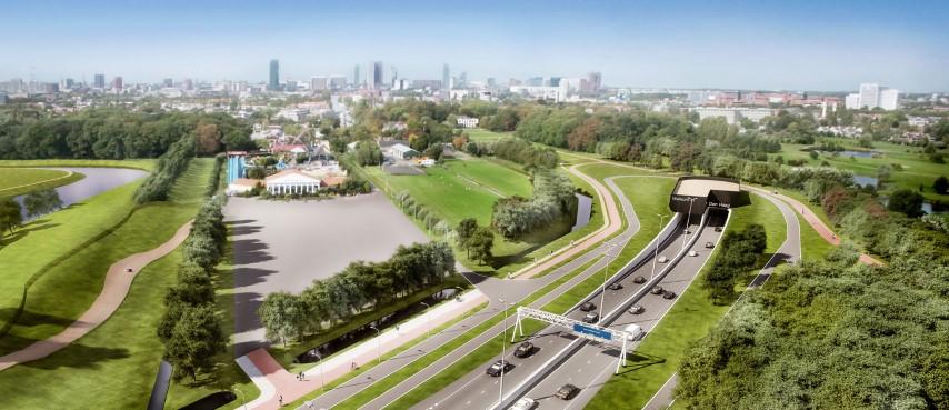Aanleg Rotterdamsebaan: Werkzaamheden A4 knooppunt Ypenburg