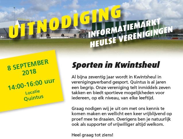 Informatiemarkt: Heulse verenigingen presenteren zich op  8 september.