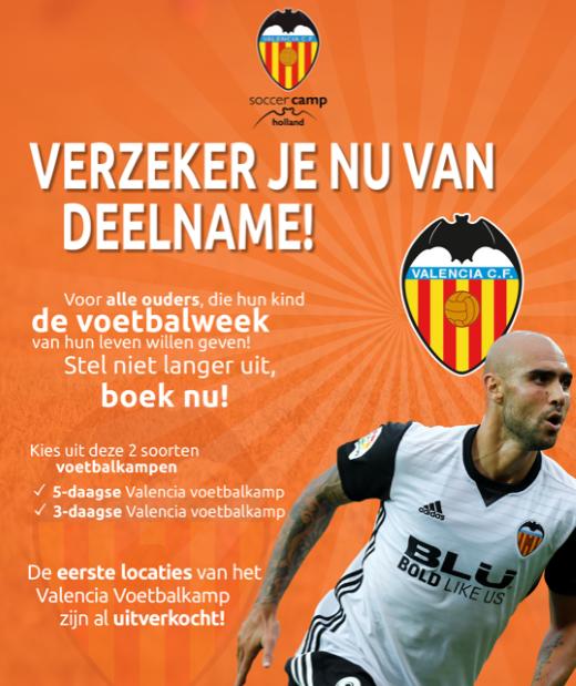 Valencia CF jeugdtrainers verheugen zich op komst naar Nederland