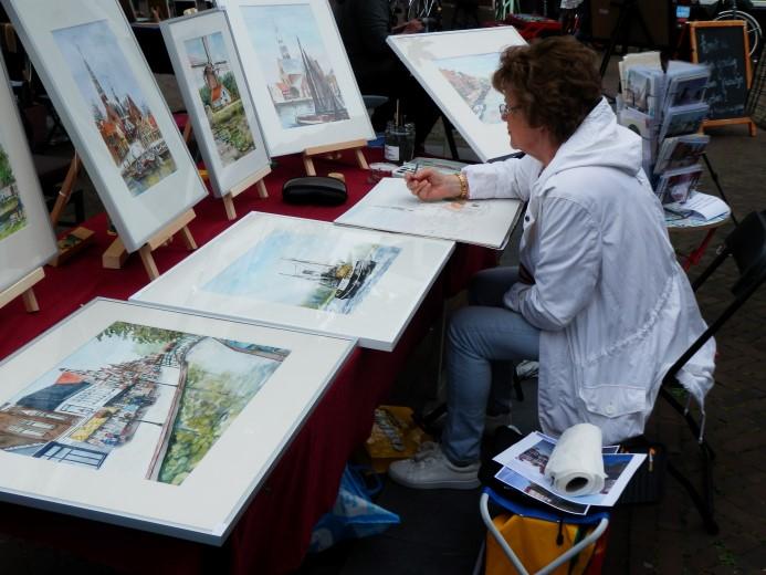 Douanehuisje augustus: Aquarellen en meer van Anneke de Graaf-Lagraauw