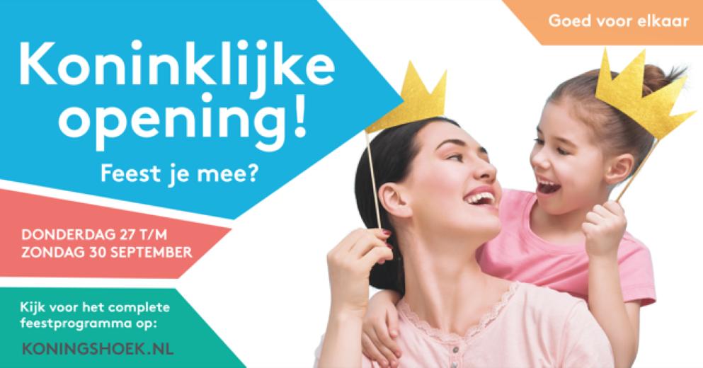 Winkelcentrum Koningshoek wordt Koninklijk heropend!