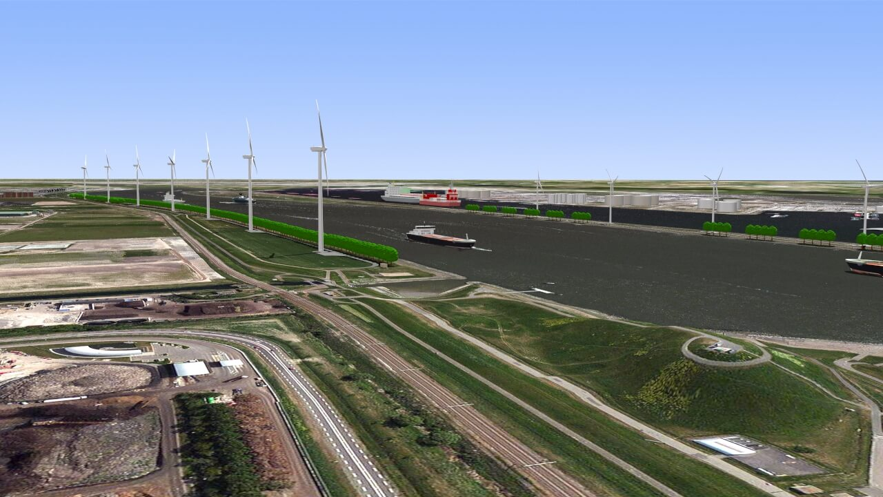 Kijkje bij bouw Windpark Nieuwe Waterweg