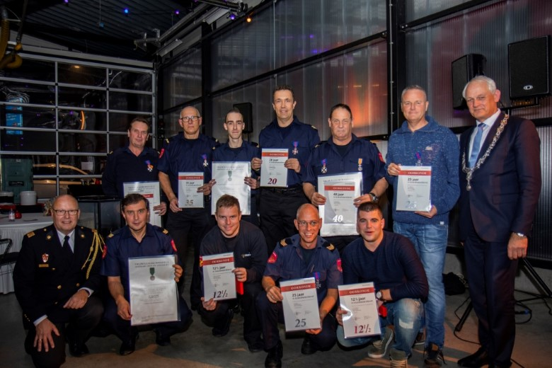 Koninklijke onderscheiding voor Schiedamse brandweerman