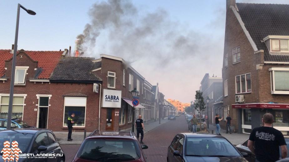 Grote brand in Hoekse shoarmazaak