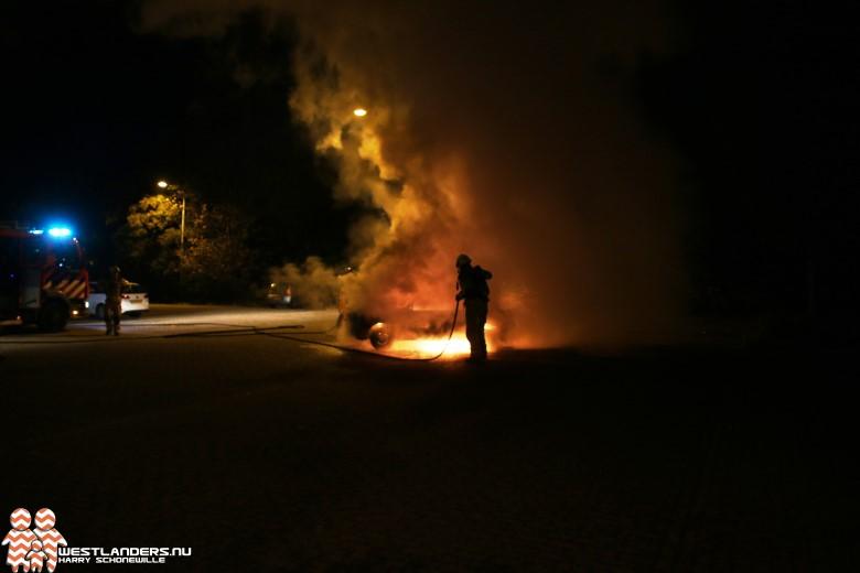 Auto uitgebrand aan de Madeweg