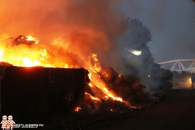 Flinke compostbrand bij afvalverwerker Hoeksebaan