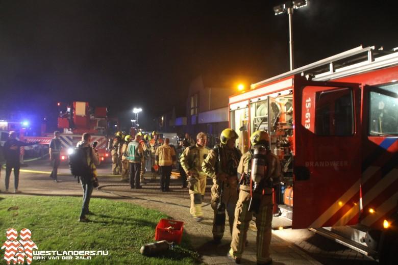 Grote brandweeroefening in Schipluiden