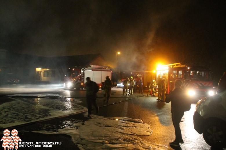 Grote brandweeroefening bij Verboon in Maasland