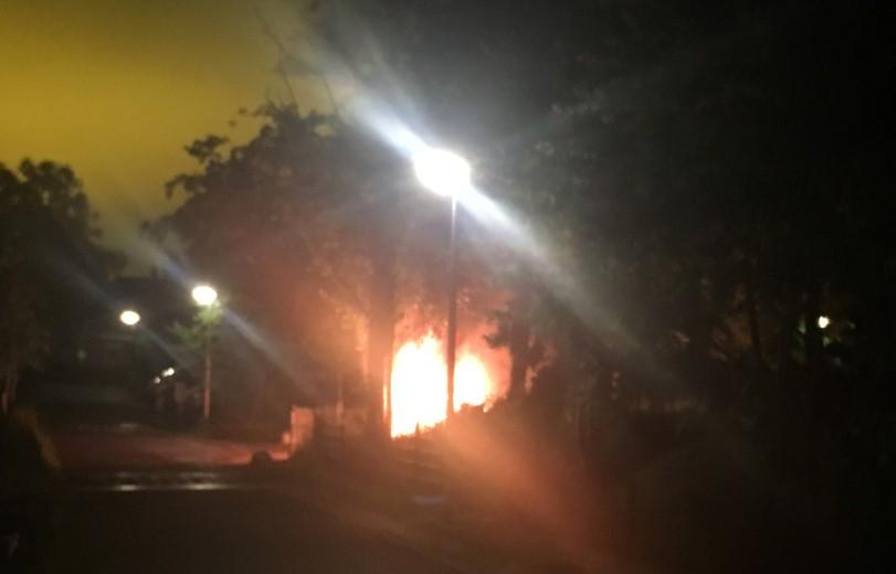 Auto uitgebrand in Maasland