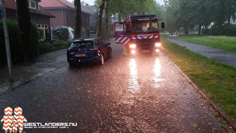 Wateroverlast in regio Westland na stortbuien